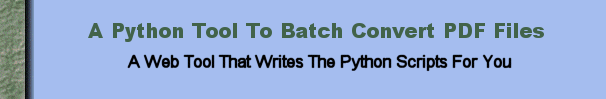 Batch Processing of PDF Files